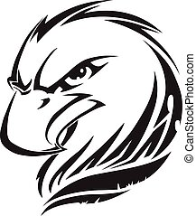 Eagle head tattoo, vintage engraving - Eagle head tattoo...