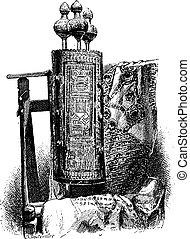 Torah, vintage engraving - Torah or Jewish Bible, vintage...