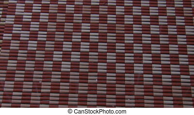 Raining on roof tiles - Red and white tile roof top pattern...