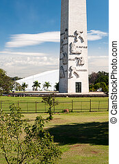 Obelisk of Sao Paulo - The obelisk of Sao Paulo in...