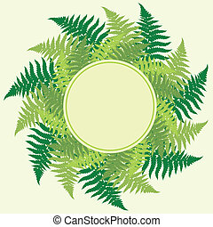 Fern leaves frame with room for your text