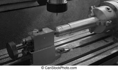 Metal Milling Machine at Working Process