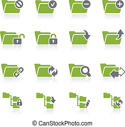 Folder Icons - 1 -- Natura Series - Green vector icon set...