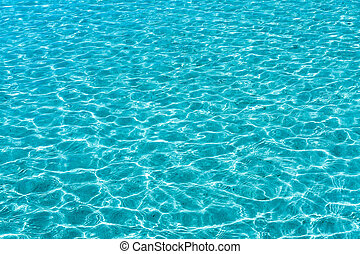 Turqouise sea water surface - Turquoise sea water surface...