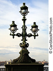 Lantern on Trinity Bridge - Empire style: decorated lamp on...