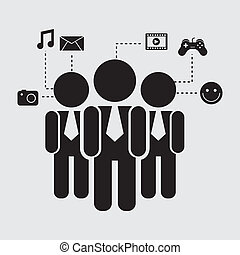 connectivity design over gray background vector illustration...