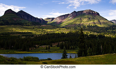 Little Molas Lake in the San Juan Mountains in Colorado