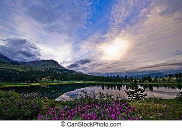 Little Molas Lake in the San Juan Mountains in Colorado.