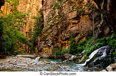 Big Spring in Zion Canyon, taken during The Narrows hike at Zion National Park