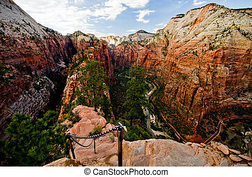 Scenery from the Angels Landing hike at Zion National Park...