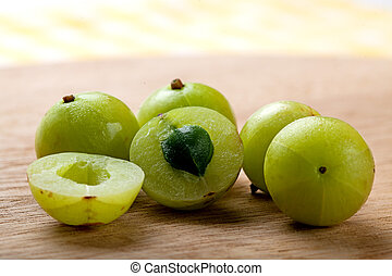 Indian Gooseberry - Fresh Indian gooseberry.