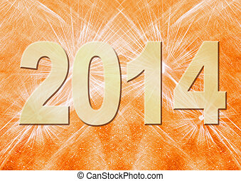 New Year background - New Year 2014 holiday background