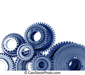 Gears - Closeup of metal cog gears