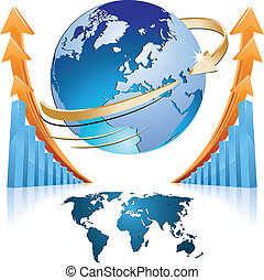 vector of global business
