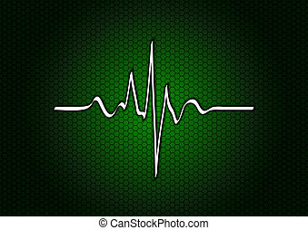 green cardio - cardio symbol on the green background