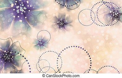 Abstract flowers background - Floral background with bokeh...