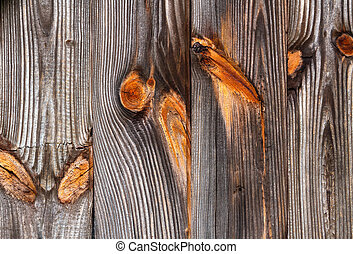 Weathered Wood Siding - Weathered wood siding on an old...