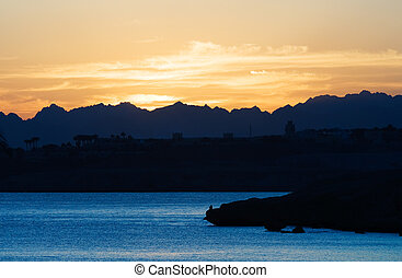 beautiful sunset in Egypt - beautiful sunset in sharm el...