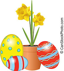 DAFFS AND EASTER EGGS
