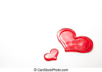 red hearts - This is a photograph of the red hearts