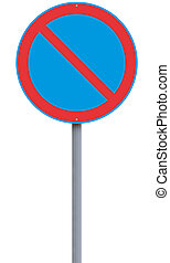 No Parking  - European no parking road sign