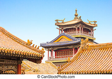 Buildings in the Forbidden City, Beijing, China