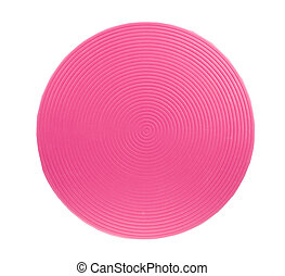 pink placemat - isolated trendy pink empty placemat