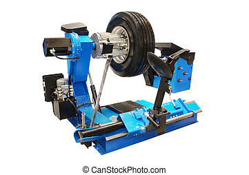 tyre fitting machine - The image of tyre fitting machine...