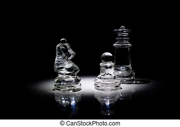 grupo, Piezas de ajedrez, luz