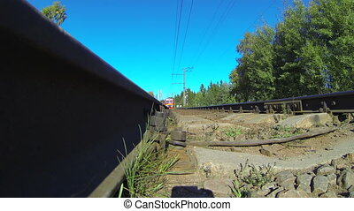 Train travel over the camera - Train Travel. The camera on...