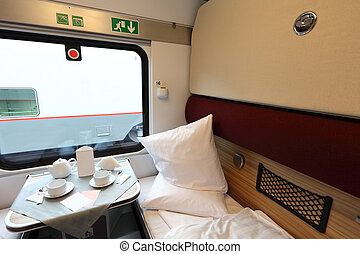 coupe - Interior of a coupe in a passenger train car