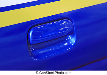 Motor vehicle door handle, closeup of photo