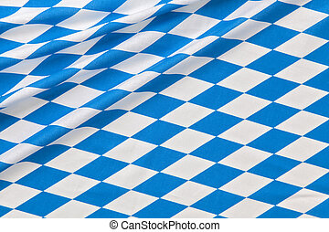 Oktoberfest background - Oktoberfest blue checkered fabric...