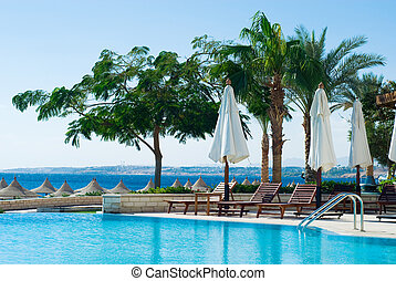 swimming pool and ocean - beautiful swimming pool and ocean...