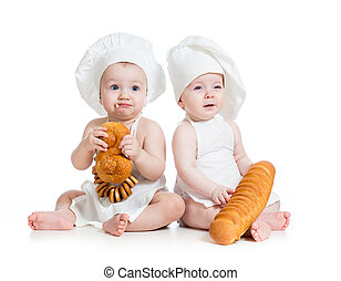 funny bakers babies boy and girl