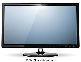 tv monitor - lcd tv monitor, vector illustration