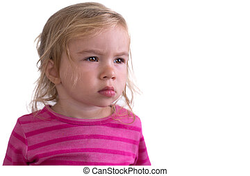 Portrait of a Unhappy Toddler - Portrait of a unhapply...