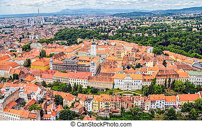 St. Mark's Church Zagreb - Zagreb Panorama with Church of...