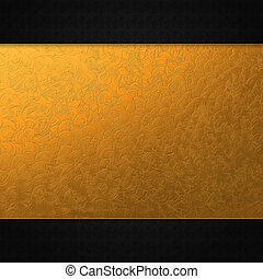 Invitation card with golden plate - Abstract background with...