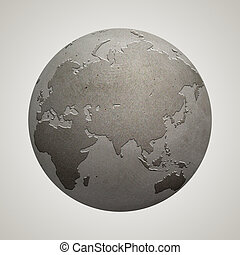 Concrete Globe - A globe made from concrete