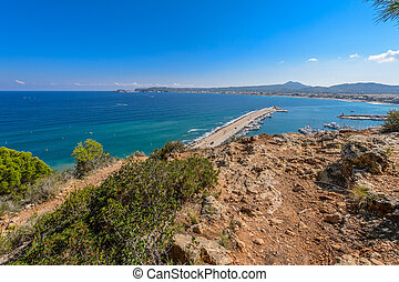 Alicante Javea harbour beach cityscape view