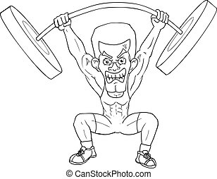 Weightlifter - Outline illustration of a weightlifter