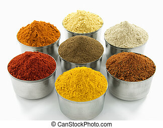 Spice collection isolated on white