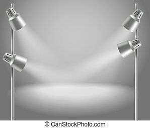 Photorealistic bright stage with projectors - Presentation...