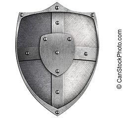 metal shield isolated on white