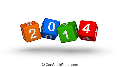 New year 2014 design element
