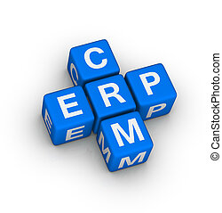 ERP and CRM symbol - Enterprise Resource Planning ERP and...