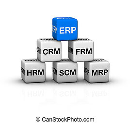 ERP System illustration - ERP (Enterprise Resource Planning)...