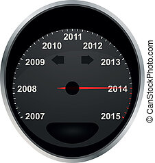 odometer 2014 - illustration of 2014 odometer calendar, from...