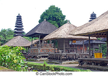 Hindu temple in Bali, Indonesia - Very old traditional hindu...